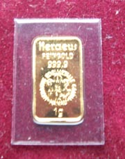 1 g Gold Goldbarren