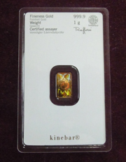 31,1 g Gold Goldbarren Kinebar