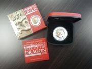 1 Oz Silber Australien Lunar II Drache 2012 vergoldet