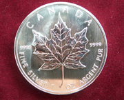 1 Oz Silber Maple Leaf 2015/16